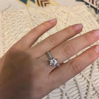リング 指輪 ホワイトサファイア シンプル シルバー925 13号(リング(指輪))