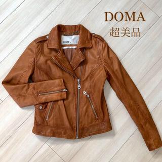 送料込★DOMA★ドマ ライダースジャケット キャメルブラウン XS(ライダースジャケット)
