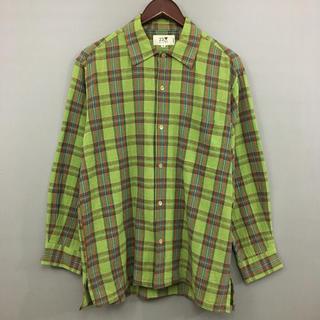 ニジュウサンク(23区)の23区 長袖 チェックシャツ グリーン ブルー メンズ 46サイズ(シャツ)
