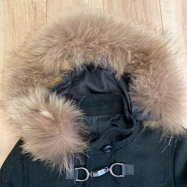 RU(アールユー)のRUブラックダッフルコートxs レディースのジャケット/アウター(ダッフルコート)の商品写真