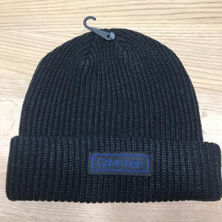 カルバンクライン(Calvin Klein)の【新品】カルバンクライン 黒 ニット帽(ニット帽/ビーニー)