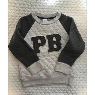 プチバトー(PETIT BATEAU)のPETIT BATEAU ロゴキルトトレーナー size104(Tシャツ/カットソー)