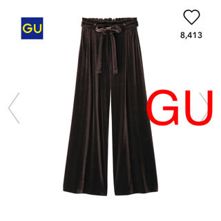 GU - ジーユー ベロアワイドパンツ ユニクロ ローリーズファーム サマンサモスモス