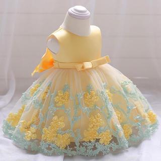 80cm♡イエローベビードレス 結婚式 誕生日♡