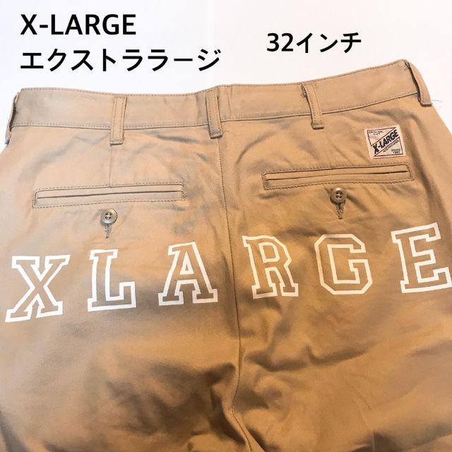 XLARGE(エクストララージ)のエクストララージ パンツ チノパン ベージュ バックプリント W32 M メンズのパンツ(チノパン)の商品写真