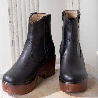 WEGO - WEGOウッドソールブーツ黒M size