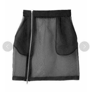 ステュディオス(STUDIOUS)のUN3D. シースルーオーバースカート ブラック(ひざ丈スカート)