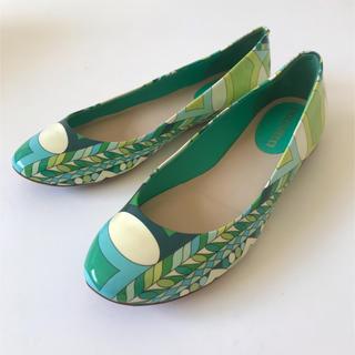 エミリオプッチ(EMILIO PUCCI)の美品 エミリオプッチ  フラットシューズ  靴  37   バレエシューズ(バレエシューズ)