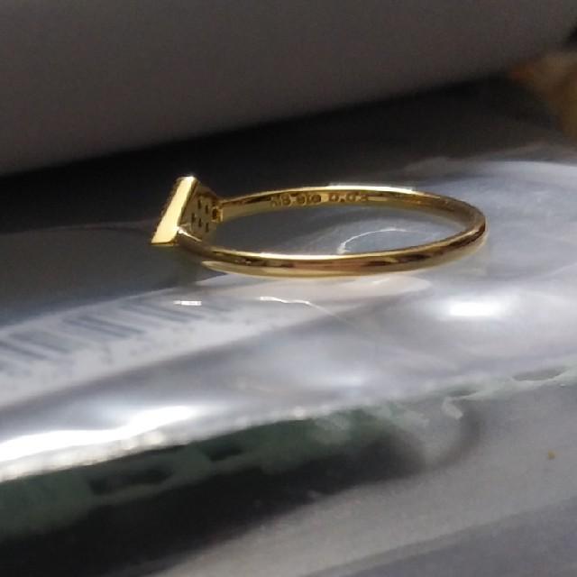 ete(エテ)の専用 K18YGエメ スクエア パヴェ リング 9号 レディースのアクセサリー(リング(指輪))の商品写真
