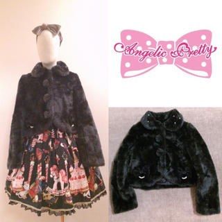 Angelic Pretty - 【AngelicPretty】♡パールリボン付きファーボレロ+.* コート