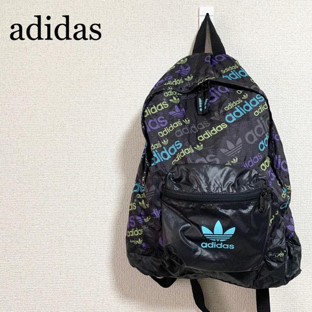 adidas(アディダス)の★未使用★アディダスオリジナルス リュック 黒 トレフォイルロゴ ロゴ柄 メンズのバッグ(バッグパック/リュック)の商品写真