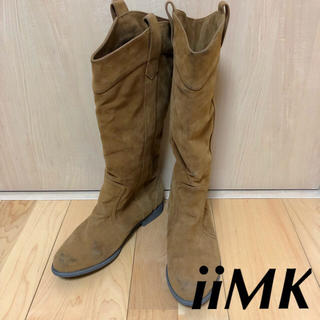 iiMK - 【iiMK】ニーハイブーツ ロングブーツ スエードブーツ 38