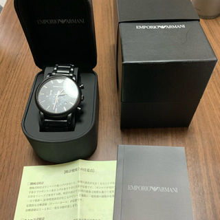 Emporio Armani - 【美品】エンポリオアルマーニ  メンズ 腕時計