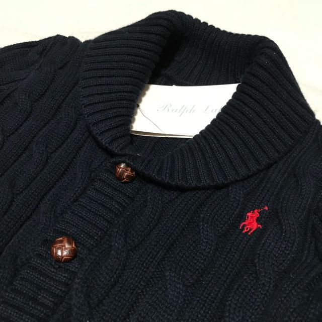 Ralph Lauren(ラルフローレン)の再入荷✧︎*。新品✨ショールカラー ケーブルニット カーディガン 12M/80 キッズ/ベビー/マタニティのベビー服(~85cm)(カーディガン/ボレロ)の商品写真