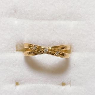 ジュエリーツツミ(JEWELRY TSUTSUMI)のツツミ K18 YG ダイヤモンドリング 5号(リング(指輪))