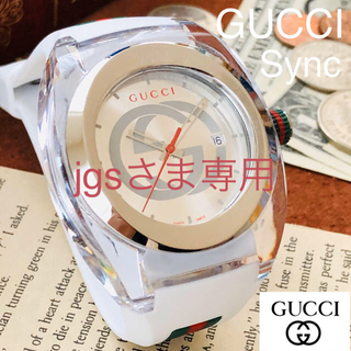 Gucci - ■未使用・新品!■高級/グッチ【GUCCI】Sync/メンズ腕時計/クオーツ/
