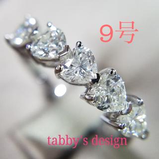 ハリーウィンストン(HARRY WINSTON)の最高級sonaダイヤモンド ハートシェイプ フルエタニティリング(リング(指輪))