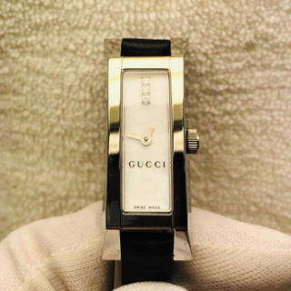 Gucci - グッチ 110  ホワイトシェル文字盤 レディース腕時計