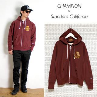 スタンダードカリフォルニア(STANDARD CALIFORNIA)のCHAMPION × SD Reverse Weave Zip Hood(パーカー)