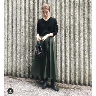 ENFOLD - 値下げ‼️RIM.ARK anywayチノスカート 38サイズ 黒 BLACK