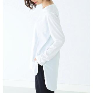 Demi-Luxe BEAMS - ATON スビン ラウンドヘム ロングスリーブTシャツ
