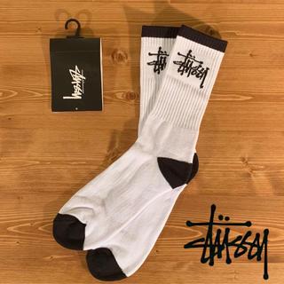 STUSSY - ◎海外限定◎ STUSSY ストックロゴ ソックス / ホワイト ステューシー