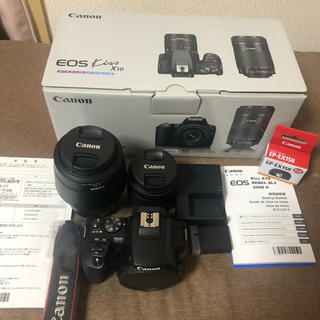 Canon - 美品 Canon EOS KISS X10 Wズームキット 保証書有