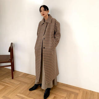 ステュディオス(STUDIOUS)のCLANE MIX CHECK SOUTIEN COLLAR COAT(ロングコート)