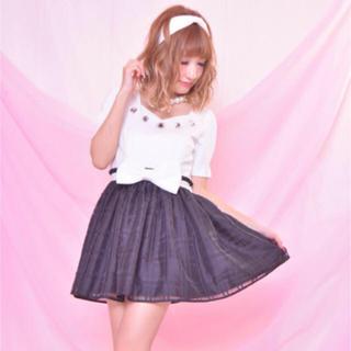 マーズ(MA*RS)のプリメロ♡ビジューお嬢様ワンピース♡ミニワンピ♡でかりぼん♡ウェストリボン♡ (ミニワンピース)