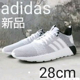 adidas - 値下げ!adidas ランニング ホワイト×ブラック メッシュ スニーカー