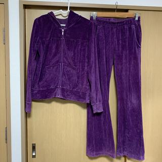 GU - GU ベロア セットアップ ルームウェア 紫 上下