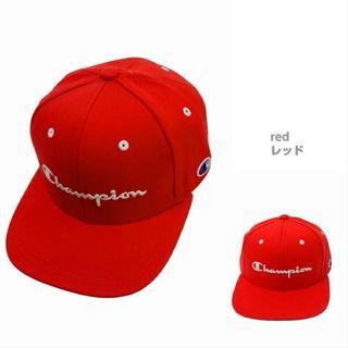 チャンピオン(Champion)の新品★チャンピオン 帽子 男女兼用 スウェット ベースボールキャップ★赤(キャップ)
