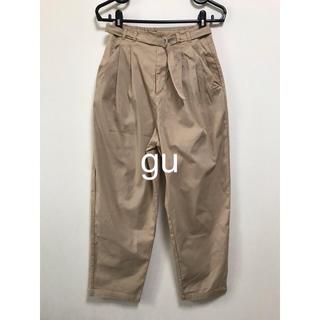 GU - gu イージーチノハイウエストボリュームパンツ