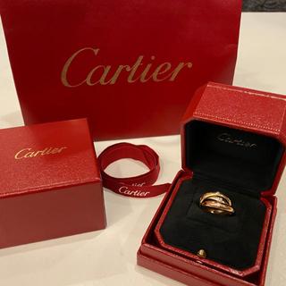 カルティエ(Cartier)の【カルティエ】18K トリニティリング 8号 ダイヤ0.18ct(リング(指輪))