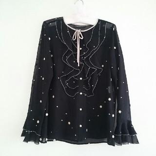DOUBLE STANDARD CLOTHING - DSC ヴァニラクチュール シルク100% フリルブラウス ダブスタ