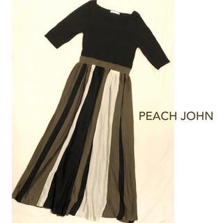 PEACH JOHN - PEACH JOHN  ピーチジョン  配色ストライプ  ワンピース