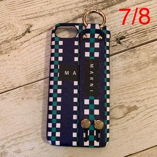 マルニ(Marni)のiPhone ケース 7/8 ネイビー(iPhoneケース)