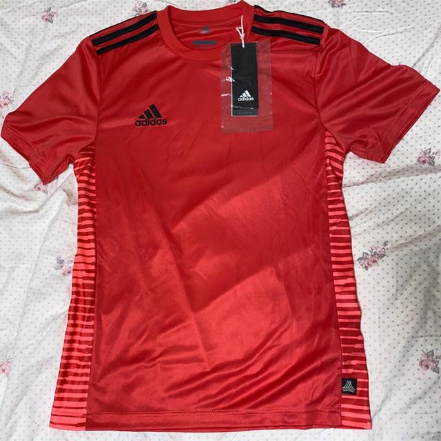 adidas(アディダス)のadidas レッド トレーニングウェア サッカー フットサル スポーツ/アウトドアのサッカー/フットサル(ウェア)の商品写真