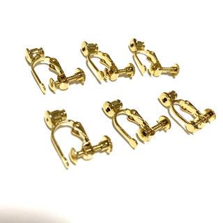 キワセイサクジョ(貴和製作所)のイヤリング コンバーター ピアス ゴールド ネジ式 3ペア6個セット(各種パーツ)