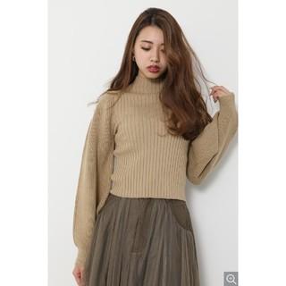 rienda - rienda★Low Gauge SLV Knit TOP、ニット
