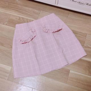 evelyn - evelyn チェック 台形 スカート