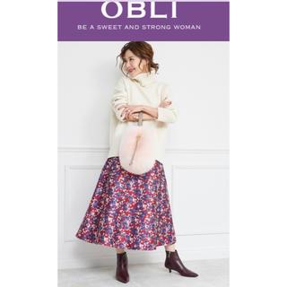 チェスティ(Chesty)のtico♡様専用 OBLI ジャガードスカート 新品未使用タグ付き(ひざ丈スカート)