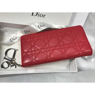 クリスチャンディオール(Christian Dior)のChristian Dior★カナージュラムスキン ウォレット★(財布)