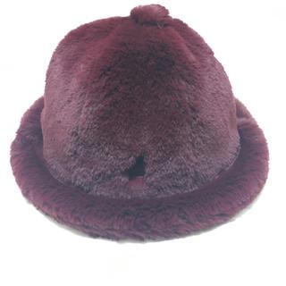 カンゴール(KANGOL)のKANGOL Fukase SMU Faux Fur Casual 赤・Lサイズ(ハット)