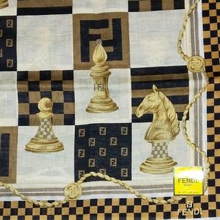 FENDI - 新品  FENDI★H ハンカチ チェス柄 メンズ フェンディ