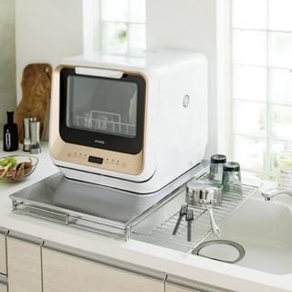 ディノス(dinos)のシンクに渡せる食洗機ラック水切り付き(キッチン収納)