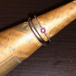 ホワイトゴールドルビーリング 極細 重ね付け 14号(リング(指輪))