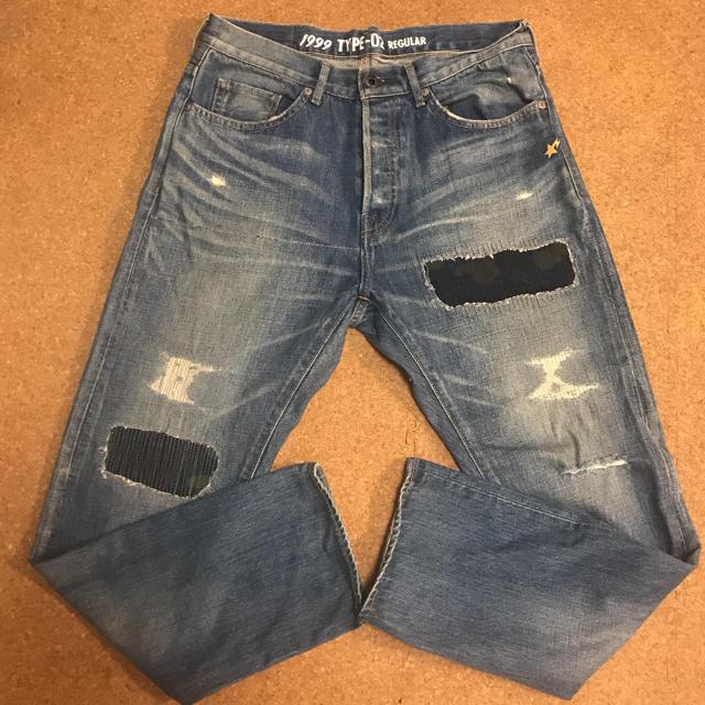 A BATHING APE(アベイシングエイプ)のエイプ デニム ジーンズ メンズのパンツ(デニム/ジーンズ)の商品写真