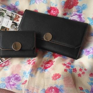 しまむら - 未使用✿MUMUさんコラボ✿お財布セット✿黒