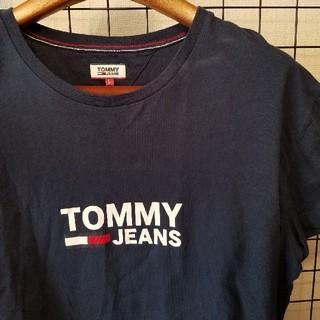 トミーヒルフィガー(TOMMY HILFIGER)のインド製 TOMMY JEANS フロントロゴ フレンチスリーブカットソー(カットソー(半袖/袖なし))